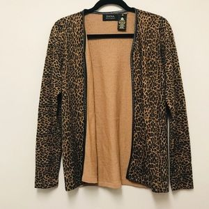 Dana Bachman 100% pure new wool cheetah cardigan